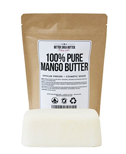 Mango Butter by Better Shea Butter - Pure & Fresh - Amazing Moisturizer, Use Alone or in DIY Body Butters, Soaps, Lotions and More - Lighter Consistency than Shea Butter - Unscented - 1 lb (16 oz) Mango Shea Butter Lotion