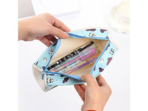 LifeDawn Set of 3 Creative Milk Cartons Waterproof PU Big Capacity Pencil Case,Yellow Blue Pink