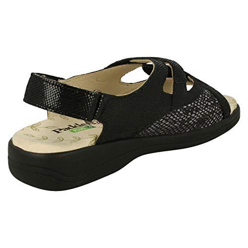 Reptile Sandales Padders Bout Gemstone Femme 72 Black Noir Ouvert zazg7Awq