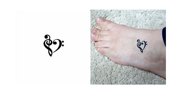 5 x Plantillas adhesiva Small para tatuajes corazón llave de suelo ...