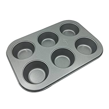 Carbon Steel Nonstick 6-Cup Muffin Pan