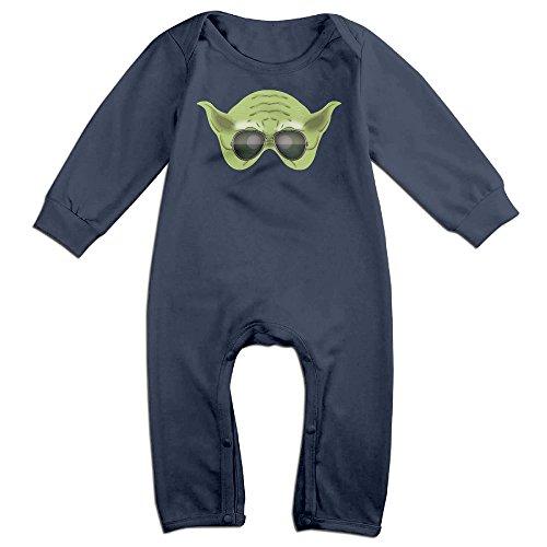 Yoda Sunglass Baby Onesie Bodysuit Toddler Romper Navy 18 - Yoda Sunglasses With