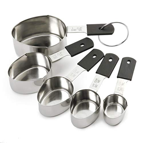 Norpro Grip-Ez Stainless Steel Measuring Cups, 5-Piece ()