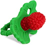 RaZbaby RaZberry Silicone Baby Teether Toy - Berrybumps Soothe Babies Sore Gums - Infant Teething Toy - Hands