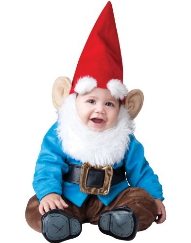 InCharacter Baby Boy's Garden Gnome Costume, Red/Blue, Small -