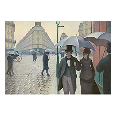 Handsome Handicraft, Paris Street Rainy Day by Gustave Caillebotte French Impressionist Peel and Stick Large Wall Mural Removable Wallpaper, Created By a Professional Artist