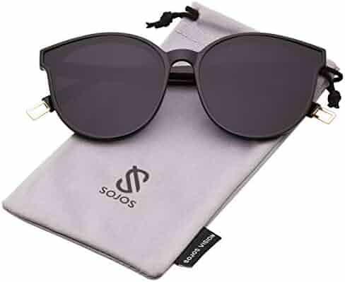 SOJOS Fashion Round Sunglasses for Women Men Oversized Vintage Shades SJ2057