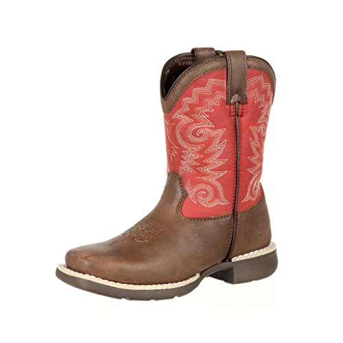 Durango Baby DBT0139 Western Boot, Brown/Red, 10 M US Toddler