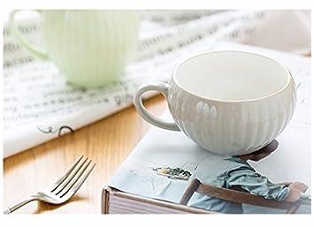 WJIANLL Taza de la calabaza taza corta alta taza de café creativa taza de cerámica/taza de la tarde, alto, verde claro: Amazon.es: Hogar