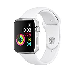New Apple Watch Series 1 42mm Smartwatch (Silver Aluminum Case , White Sport Band)