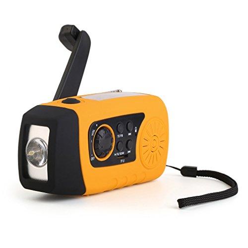 OUTAD Solar Hand Crank Self Powered Emergency FM Radio wi...