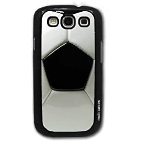 Soccer Football - Protective Designer BLACK Case - Fits Samsung Galaxy S3 SIII i9300