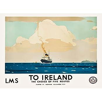 TX425 Vintage Ireland Antrim Coast Giants Causeway Railway Travel Poster A3//A4