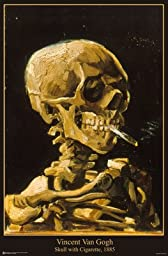 Van Gogh (Skull with Cigarette, 1885) Art Print Poster - 24x36 Poster Print by Vincent van Gogh, 24x36 Poster Print by Vincent van Gogh, 24x36