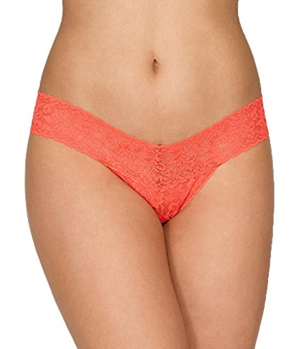 Hanky Panky Signature Lace Low Rise Thong, One Size, (Signature Womens Thongs)