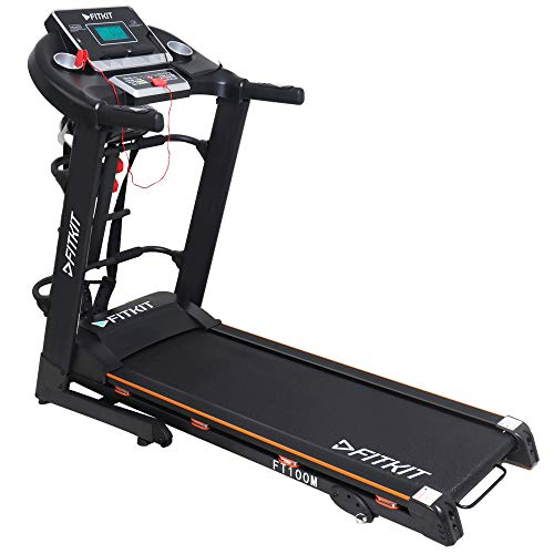 Fitkit FT100 Series Motorized Treadmill with Manual Inclination (Free Installation Service)