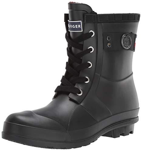Tommy Hilfiger Women's TRINETI Snow Boot, Black, 8 M US (Women Boots Tommy Hilfiger)