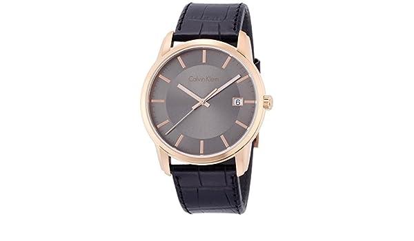 Calvin Klein Reloj Digital para Hombre de Cuarzo con Correa en Cuero K5S316C3: Amazon.es: Relojes