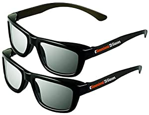 2D Glasses 2 Pack - Turns 3D movies back into 2D - eDimensional 2 Pairs for SONY, LG, Vizio TV's and with all other passive 3D Televisions also for use in RealD 3D Theaters!