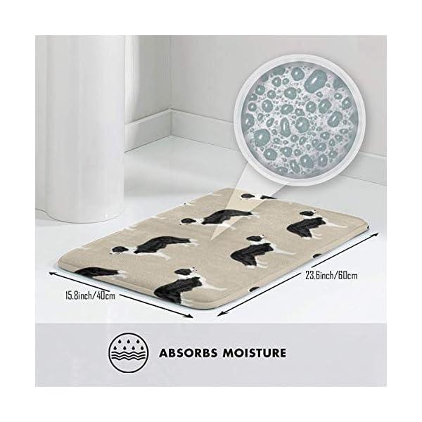 "Pillow Bags Cute Border Collies Designs Best Border Collies Fabrics Cute Design for Border Collies Floor Bath Entrance Rug Mat Absorbent Indoor Bathroom Decor Doormats Rubber Non Slip 15.7"" X 23.5"" 3"