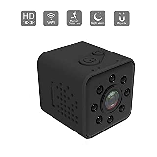 Upgrad Version SQ23 HD WiFi Small Mini Camera Sansnail cam 1080P Video Sensor Night Vision Camcorder Micro Cameras DVR Motion SQ13 SQ11 (Black)