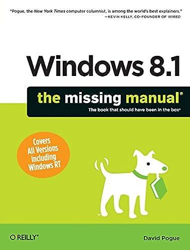windows 8 1 the missing manual missing manuals david pogue rh amazon com Owner's Manual Toyota Manual Book
