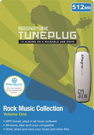 512MB Magnatune TunePlug USB 2.0 Flash Drive