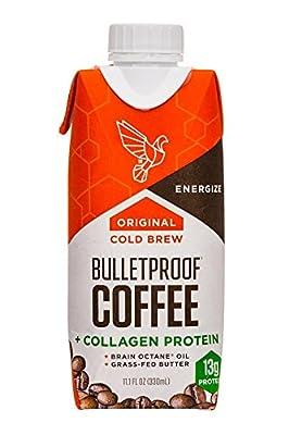 Bulletproof Coffee Cold Brew 6 pack (Original + Collagen Protein) from Bulletproof Inc.