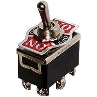 AERZETIX - Interrupteur commutateur à levier DP3T ON-OFF-ON 10A/250V 3 positions