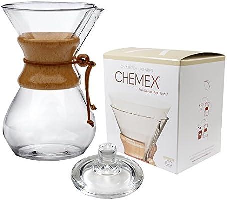 Chemex con cuello de madera y corbata de cristal 50 oz cafetera ...