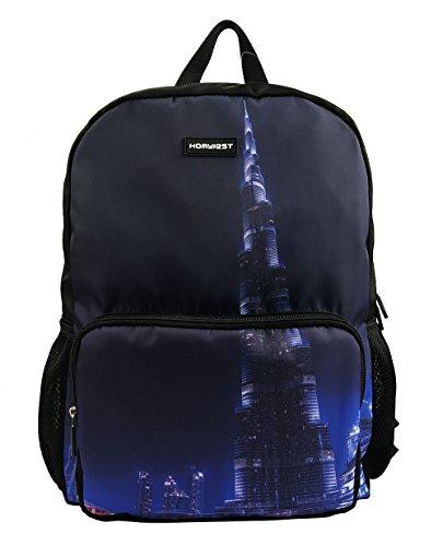 Customized School Backpack HOMYIEST Children's Backpack,Shoulders Bag,Casual Backpack,Travel Backpack (city night)