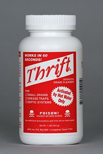 - Thrift T-100 Alkaline Based 1-Pound Granular Drain Cleaner