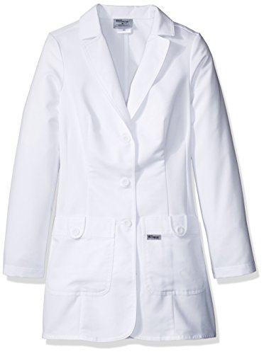 Grey's Anatomy 7446 Missy 2 Pkt White Lab Coat w/ Back Tab Medium