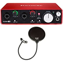 Focusrite Scarlett 2i2 USB Audio Interface (2nd Gen) + 2 Free Knox Pop Filters