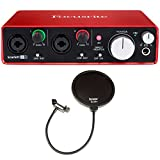 Focusrite Scarlett 2i2 USB Audio Interface (2nd Gen) + 2 Free Knox Pop Filters