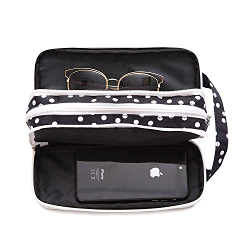Versatile Travel Makeup Bag - Large Cosmetic Pouch - Travel Organizer For Your Cosmetics ()