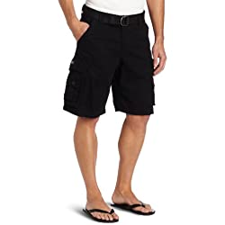 Lee Men's Big-Tall Dungarees Belted Wyoming Cargo Short, Black, 50