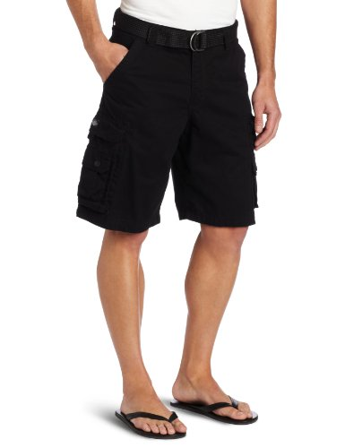 LEE Men's Big-Tall Dungarees Belted Wyoming Cargo Short, Black, 46 by LEE