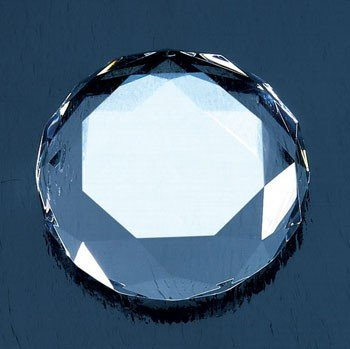 Optical Crystal Octagon Paperweight - Octagon Paperweight