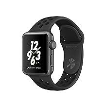 Apple Watch Series 2 Nike+ de 38mm, Banda deportiva, color Gris/Negro