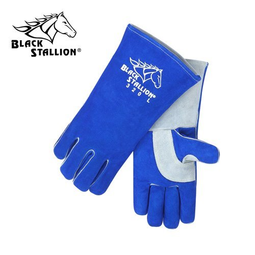 Revco CushionCore Quality Side Split Cowhide Stick Welding Gloves, Size Medium, Pair