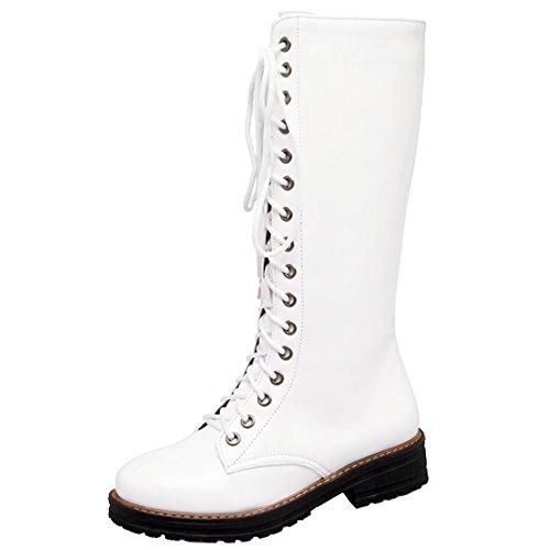 AIYOUMEI PU Boot Women's Classic weiß SPf1Sa