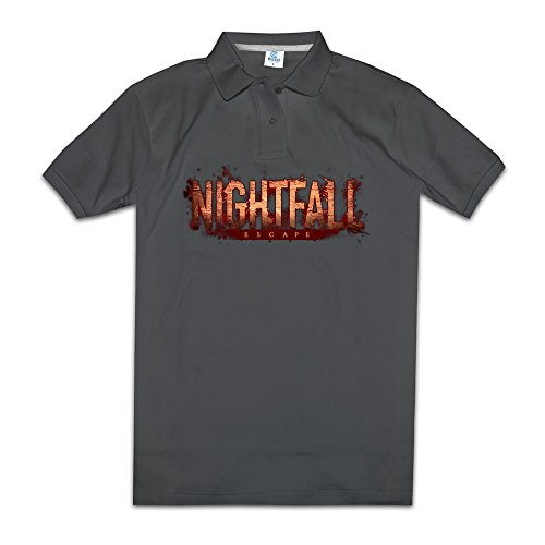 Nightfalls Strategy And Role Playing Games Mens Polos Shirts Classic Collared Shirts