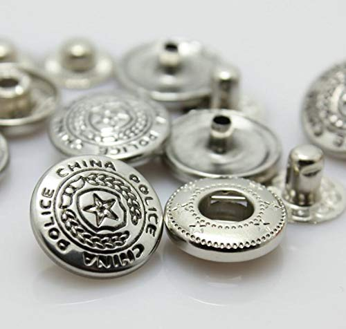 (Maslin 15mm Pure Copper Silver Star Metal snap Button Down Jacket Combined Buttons 200pcs/lot)
