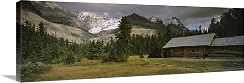 Canvas On Demand Premium Thick-Wrap Canvas Wall Art Print entitled Log Cabins On A Mountainside, Yoho National Park, British Columbia, Canada (Log Cabin Canvas)