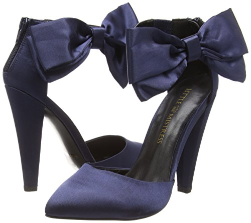 Little Scarpe Mistress Blu Navy blu Col Donna Tacco Fortuna Rr7vqxR