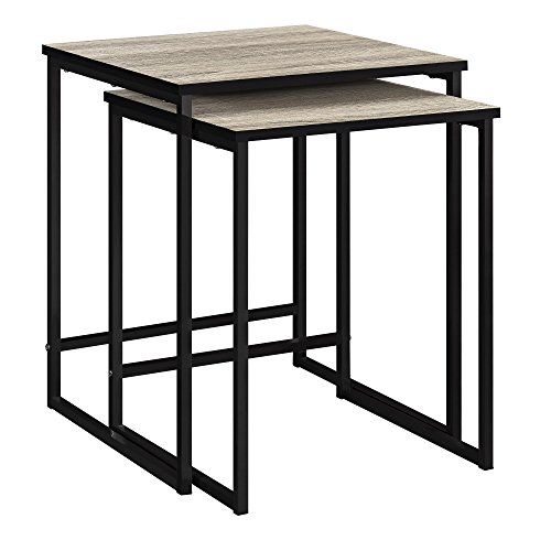 Ameriwood Home Stewart Nesting Tables, Weathered - Tables Nested