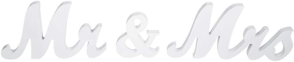 FTVOGUE Mr /& Mrs Letters Decorative Madera para la decoraci/ón de Boda Signo Superior Tabla Presenti Decor Boda calic/ó Negro