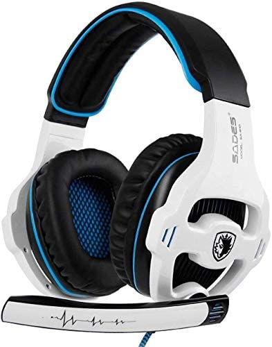 Xbox One Gaming Headset Stereo Over Ear Gaming Headset with Mic Noise Cancelling Volume Control for Xbox One/PC/Mac/PS4/Nintendo(White) ¡
