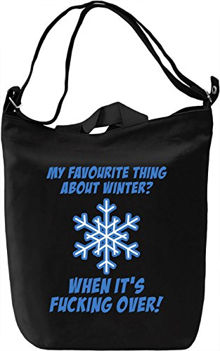 My favourite thing about winter Borsa Giornaliera Canvas Canvas Day Bag| 100% Premium Cotton Canvas| DTG Printing|